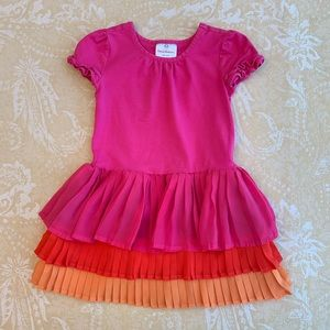 Hanna Andersson Pink Tiered Tutu Dress Size 4
